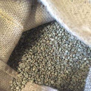 Rå kaffebønner